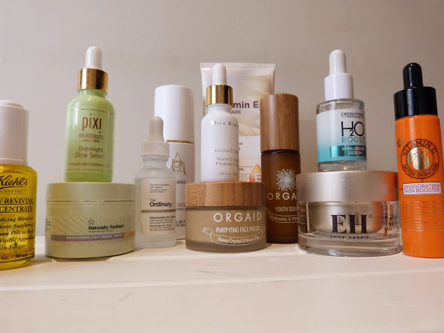close up shot of beauty products