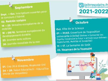 Le calendrier des événements à suivre cette année en SVT