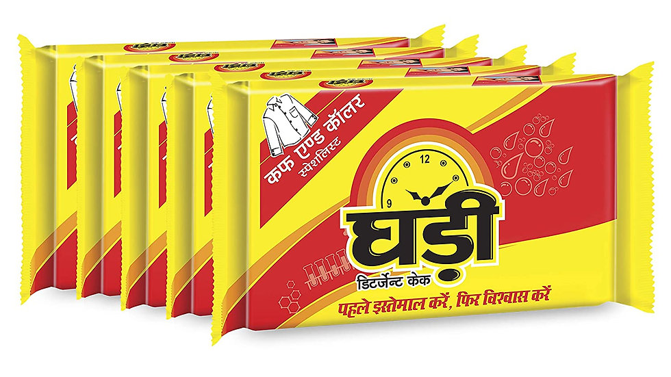 Ghadi Detergent Cake Rs.5 (Pack of 6)