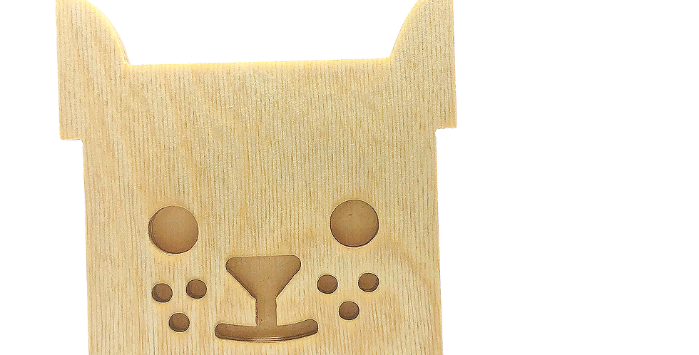 Маска «Котун» для деревянного ночника лампуна