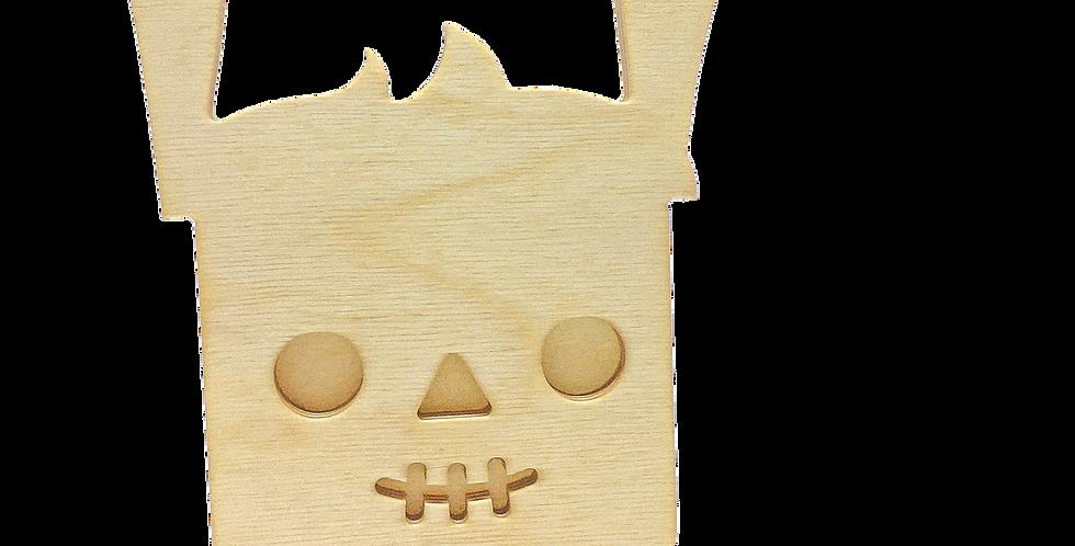 Маска «Ламун-скелетун» для деревянного ночника лампуна