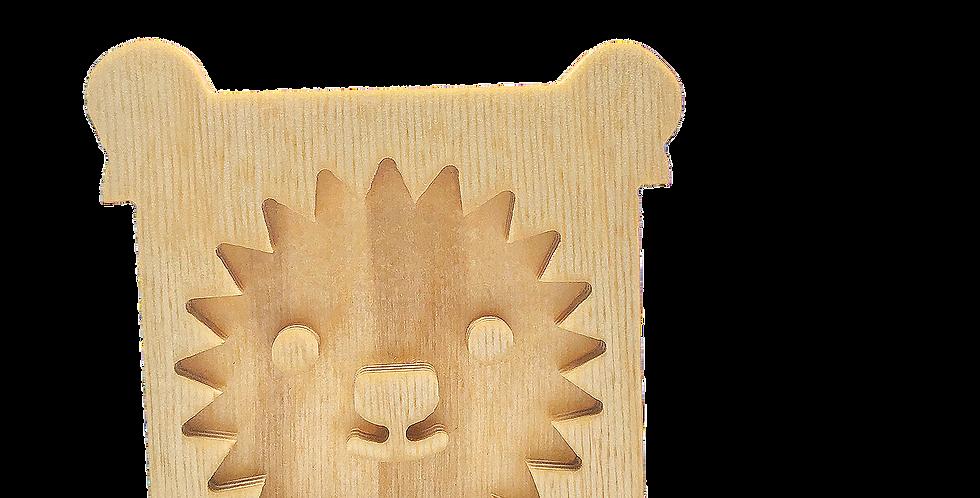 Маска «Львун» для деревянного ночника лампуна