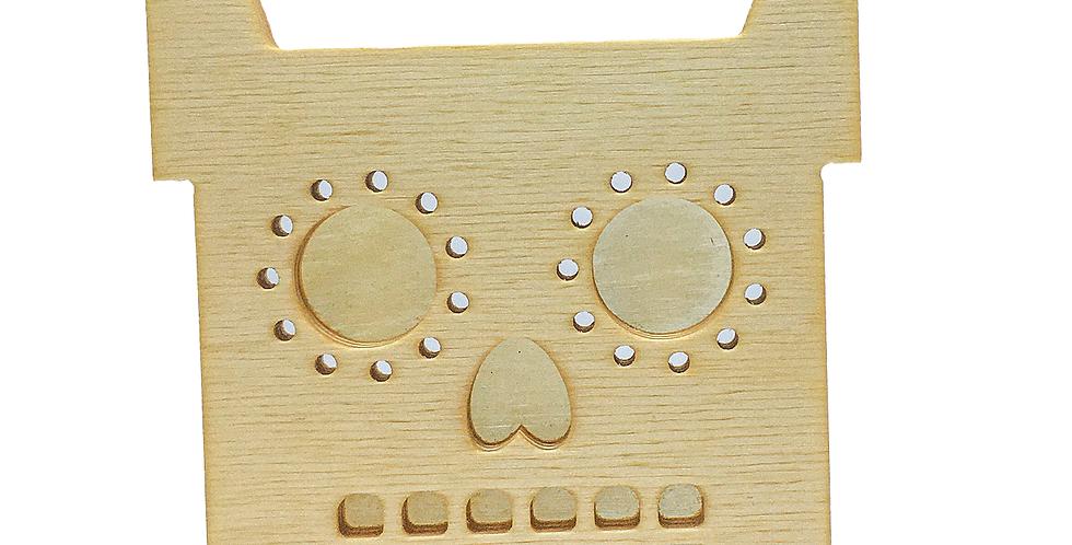 Маска «Котун-скелетун» для деревянного ночника лампуна