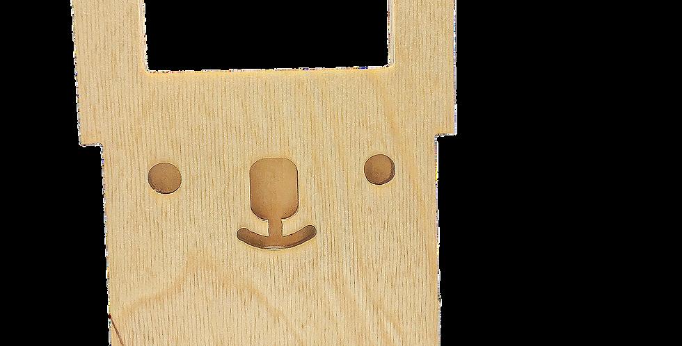 Маска «Зайцун» для деревянного ночника лампуна