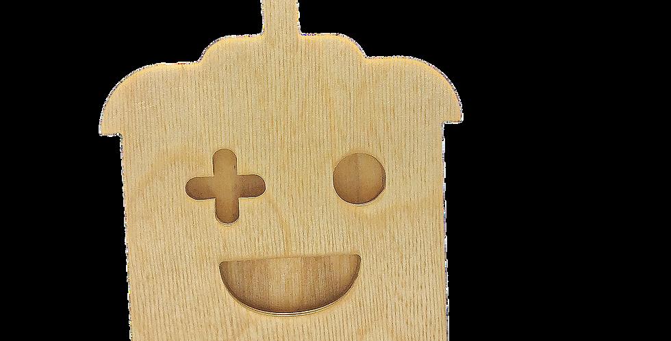 Маска для деревянного ночника лампуна «Роботун»