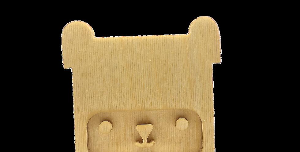 Маска «Медведун» для деревянного ночника лампуна