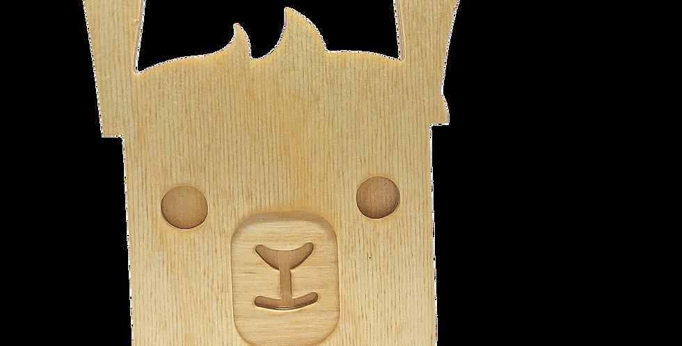 Маска «Ламун» для деревянного ночника лампуна