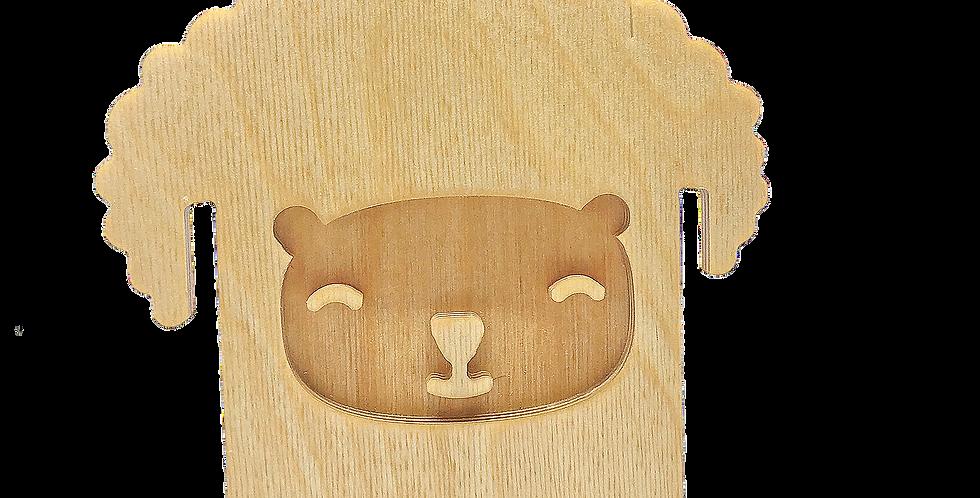 Маска «Барашун» для деревянного ночника лампуна
