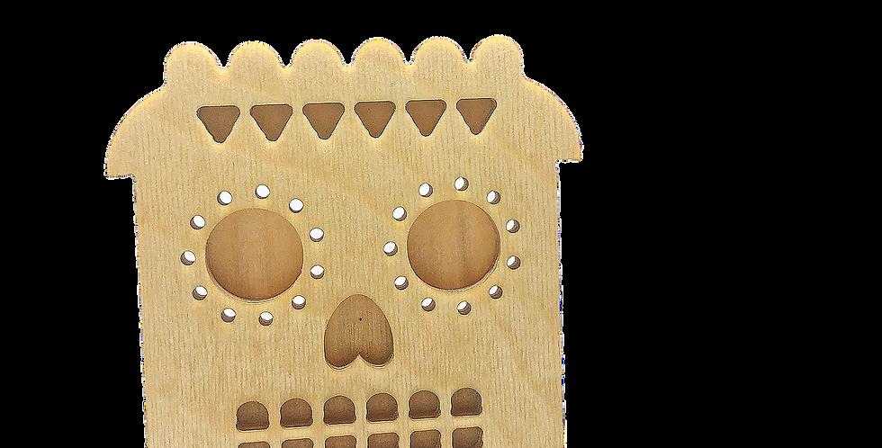 Маска «Муэртосун» для деревянного ночника лампуна