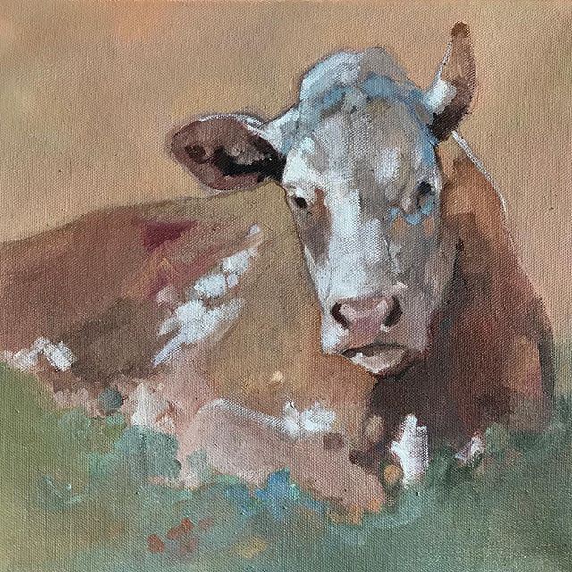 Cow painted by Peggy Judy