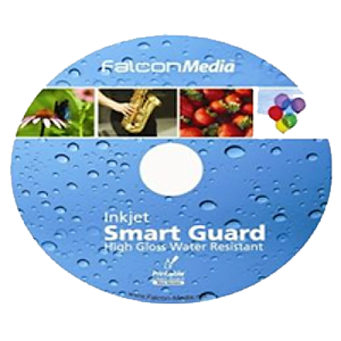 Falcon CD-R Inkjet SmartGuard White Water Resistant