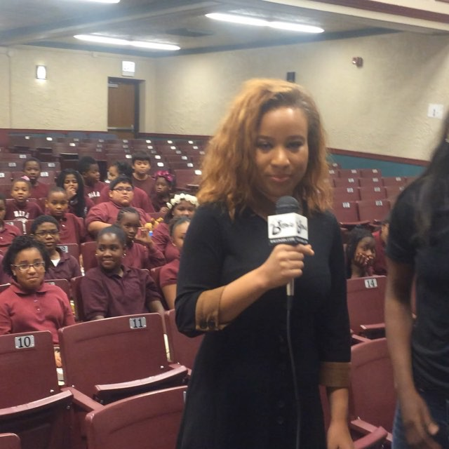 WNBA 2015 Rookie of the Year (Seattle Storm) _jewellloyd & I took over Hope Academy today. We had a