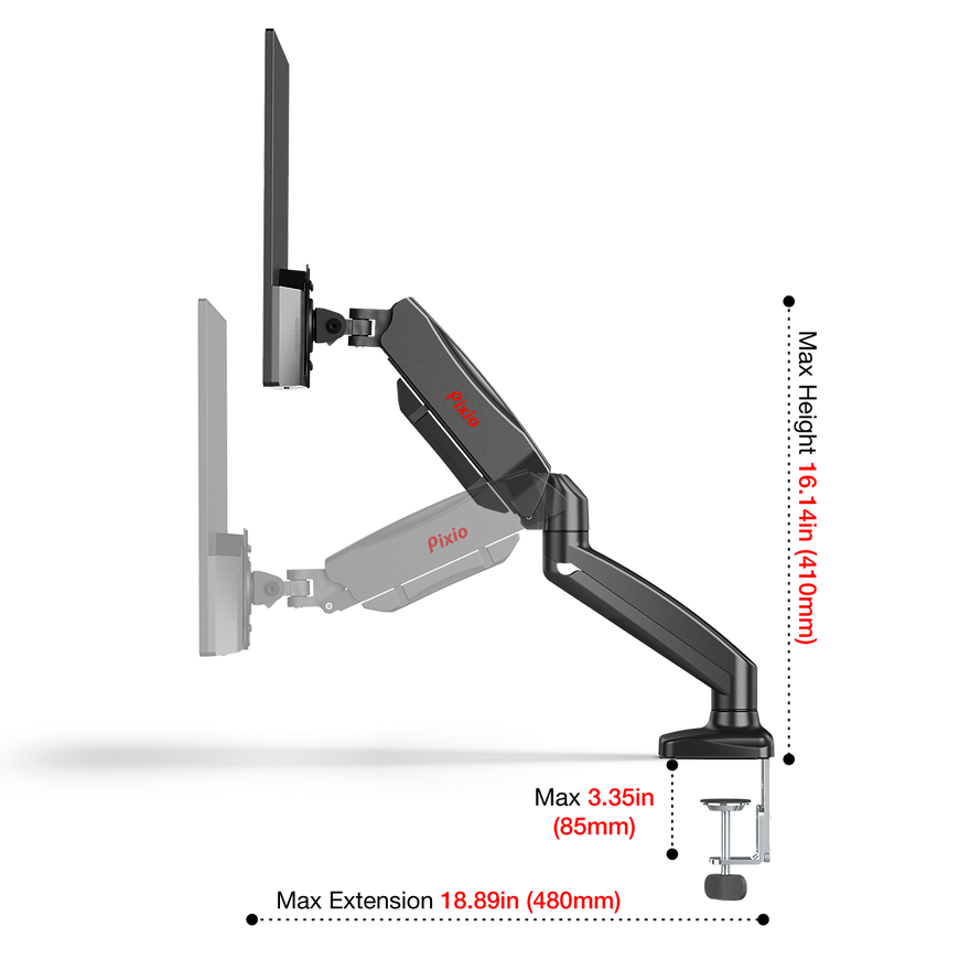 Pixio_PS1S_Monitor Arm mount stand_singl