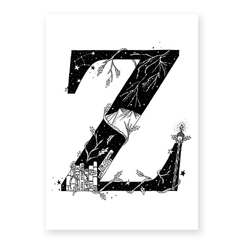 Fairytale themed letter Z