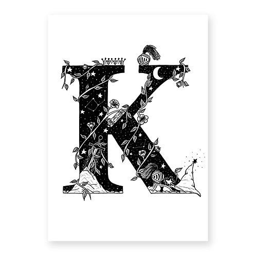 Fairytale themed letter K