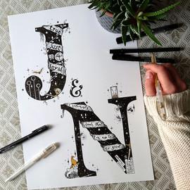 J&N initials