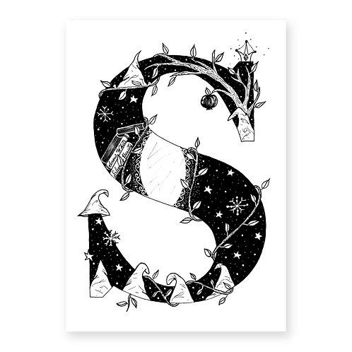 Fairytale themed letter S