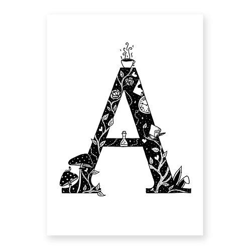 Fairytale themed letter A