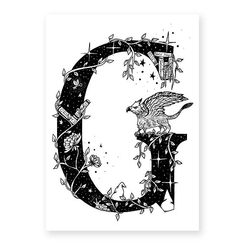 Fairytale themed letter G