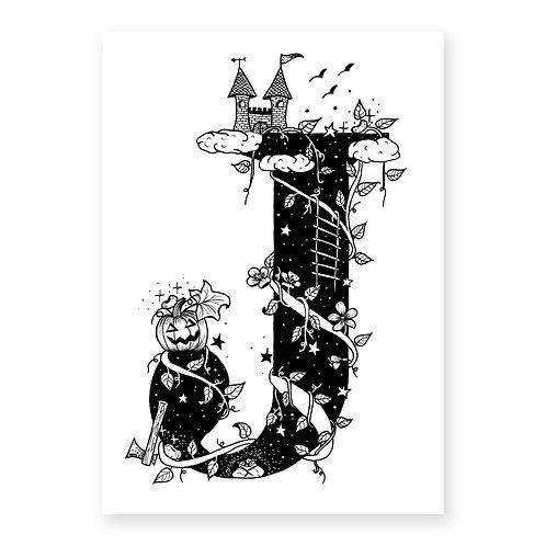 Fairytale themed letter J