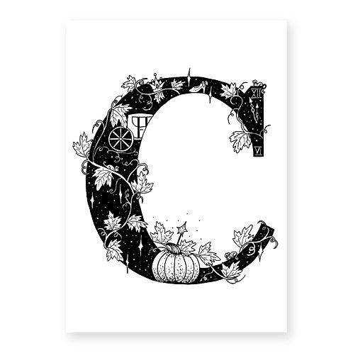 Fairytale themed letter C