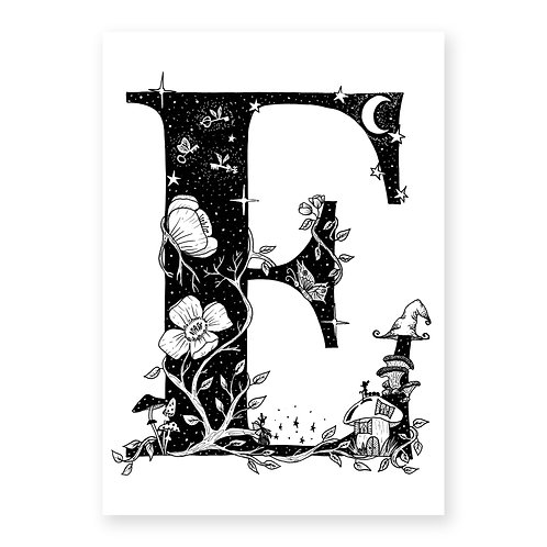 Fairytale themed letter E