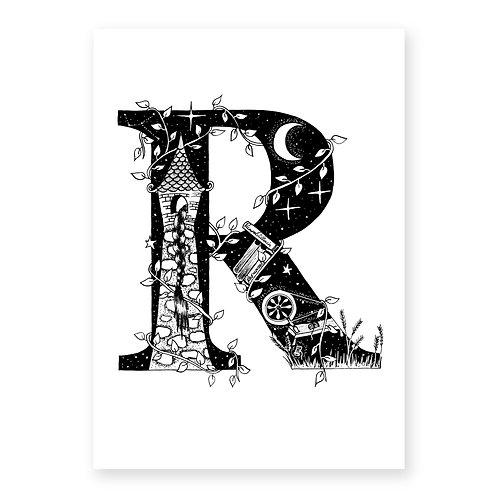 Fairytale themed letter R