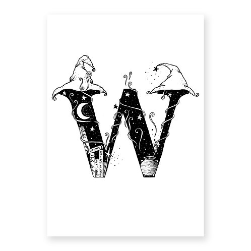 Fairytale themed letter W
