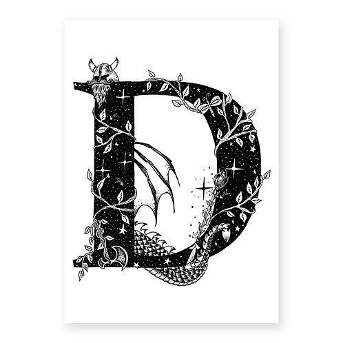 Fairytale themed letter D