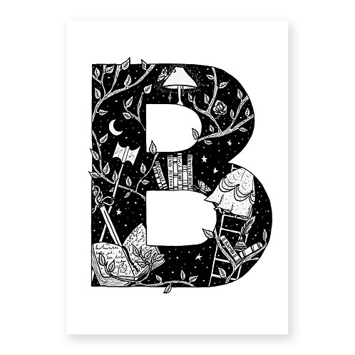 Fairytale themed letter B