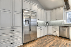 full overlay cabinetry-Weatherby Lake kitchen