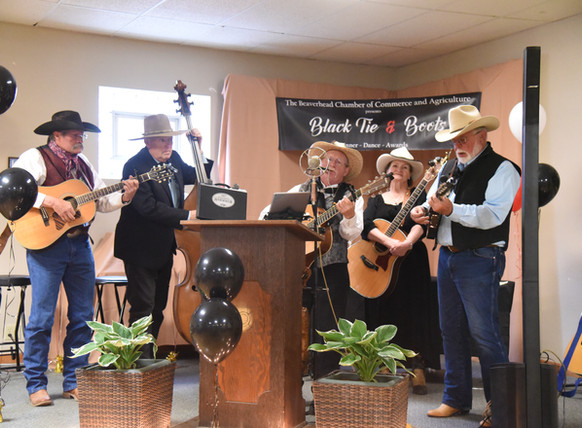 The Johnnie Bacon Band  Performing at the Black Tie Gala.