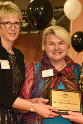 Community Organization of the Year: Barrett Hospital Foundation  Janet Tatarka, Board Chair.  Brooke Erb, Executive Director.