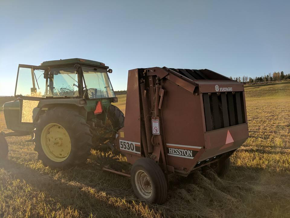 The hay baler