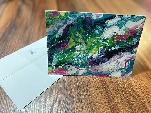 METAvivor 5X7 note cards featuring artwork by Marina Pomare Kaplan