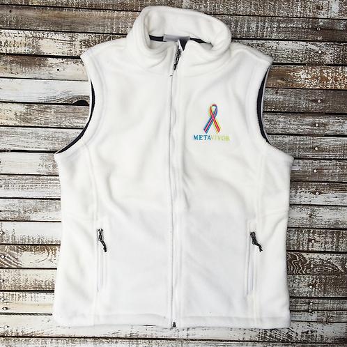 METAvivor Logo Mid-Weight Fleece Vest in 10 Colors
