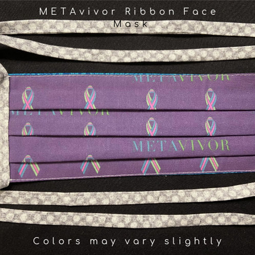 METAvivor Ribbon Face Mask