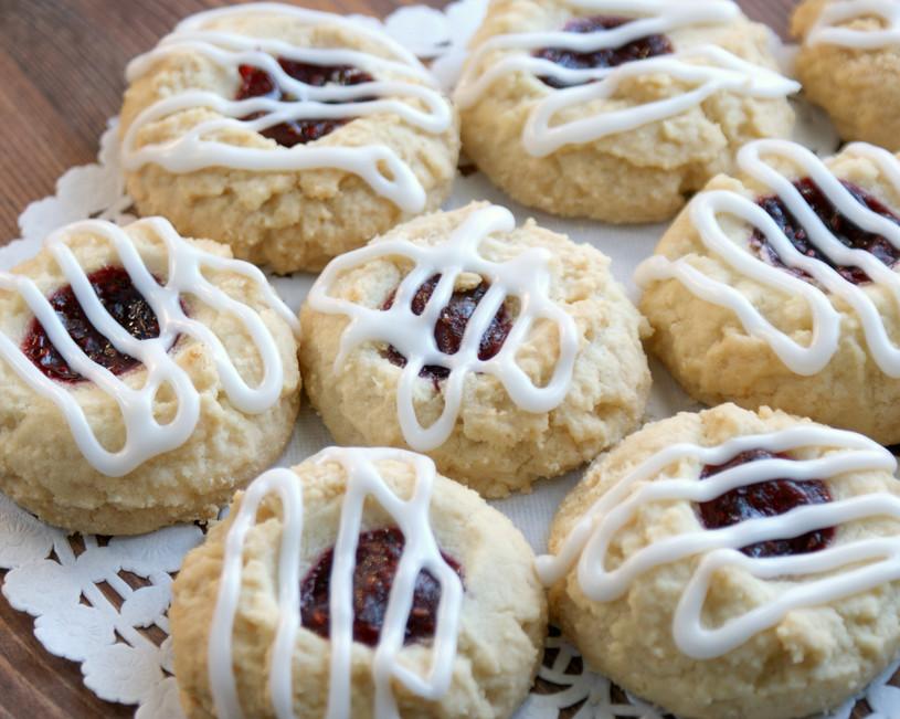Raspberry Almond Shortbread