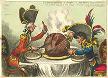 JAMES-GILLRAY-PLUM-PUDDING- IN DANGER  A