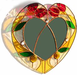 Rose heart mirror