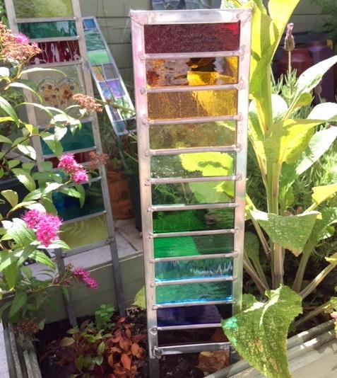 Glass garden stake