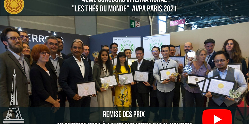 4th Teas of The World  International Contest AVPA PARIS 2021 - Awards Ceremony