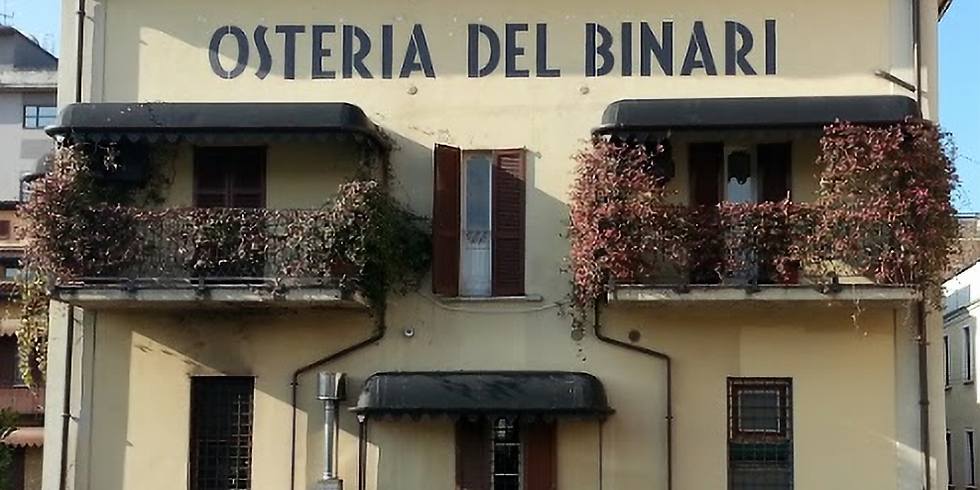 Dinner party in Milano at Osteria Del Binary