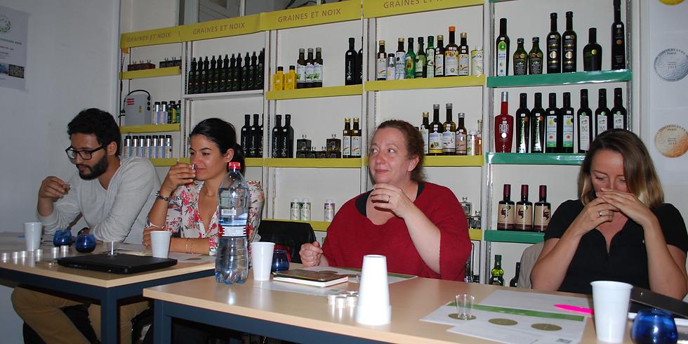Ateliers de dégustation d'huiles d'olive AVPA