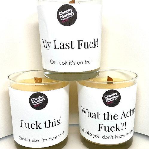 The F Covid Candle set