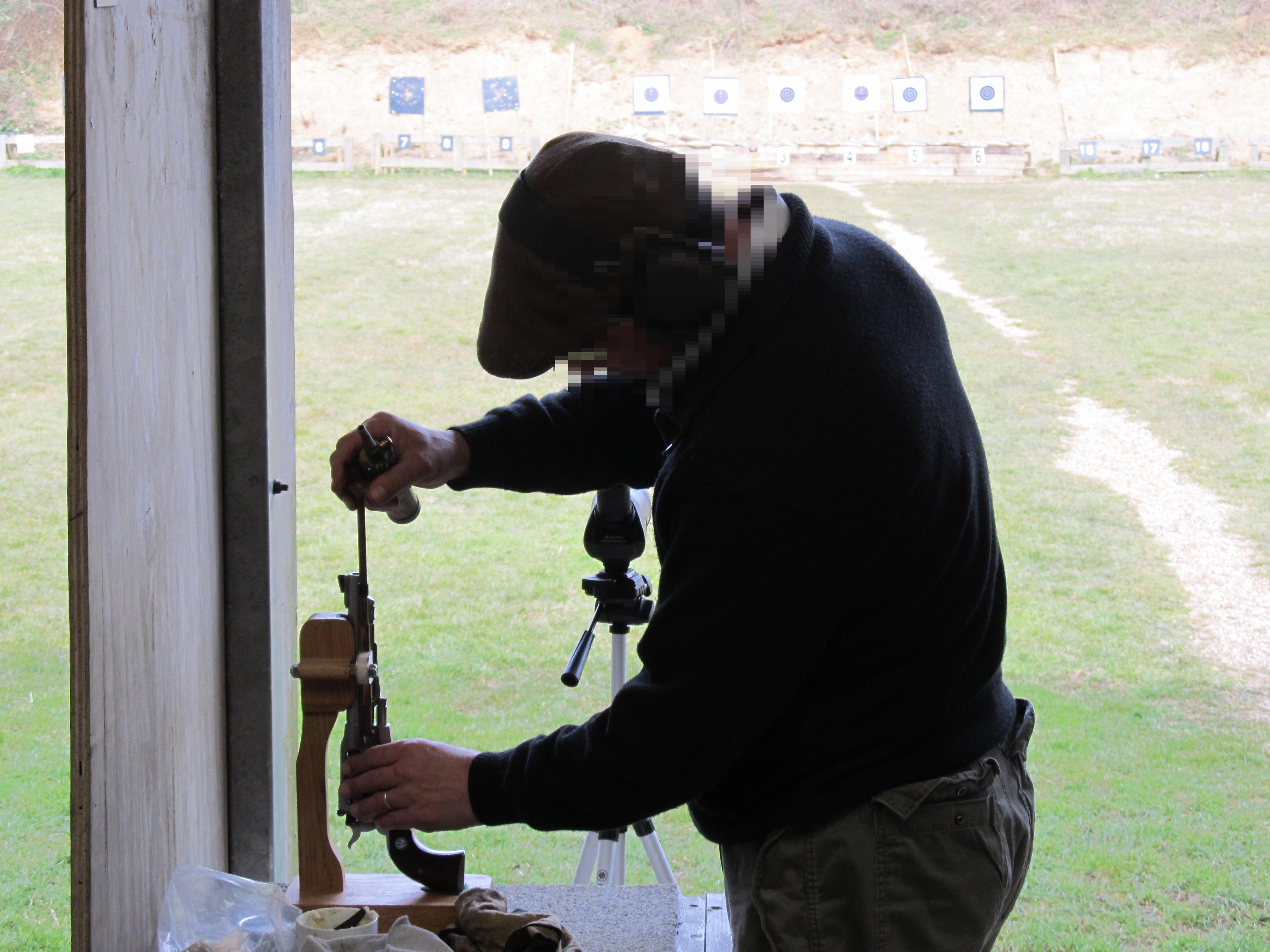 Black powder revolver loading