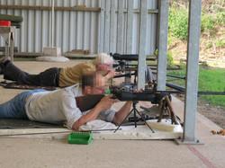 Prone shooting on the 100m range