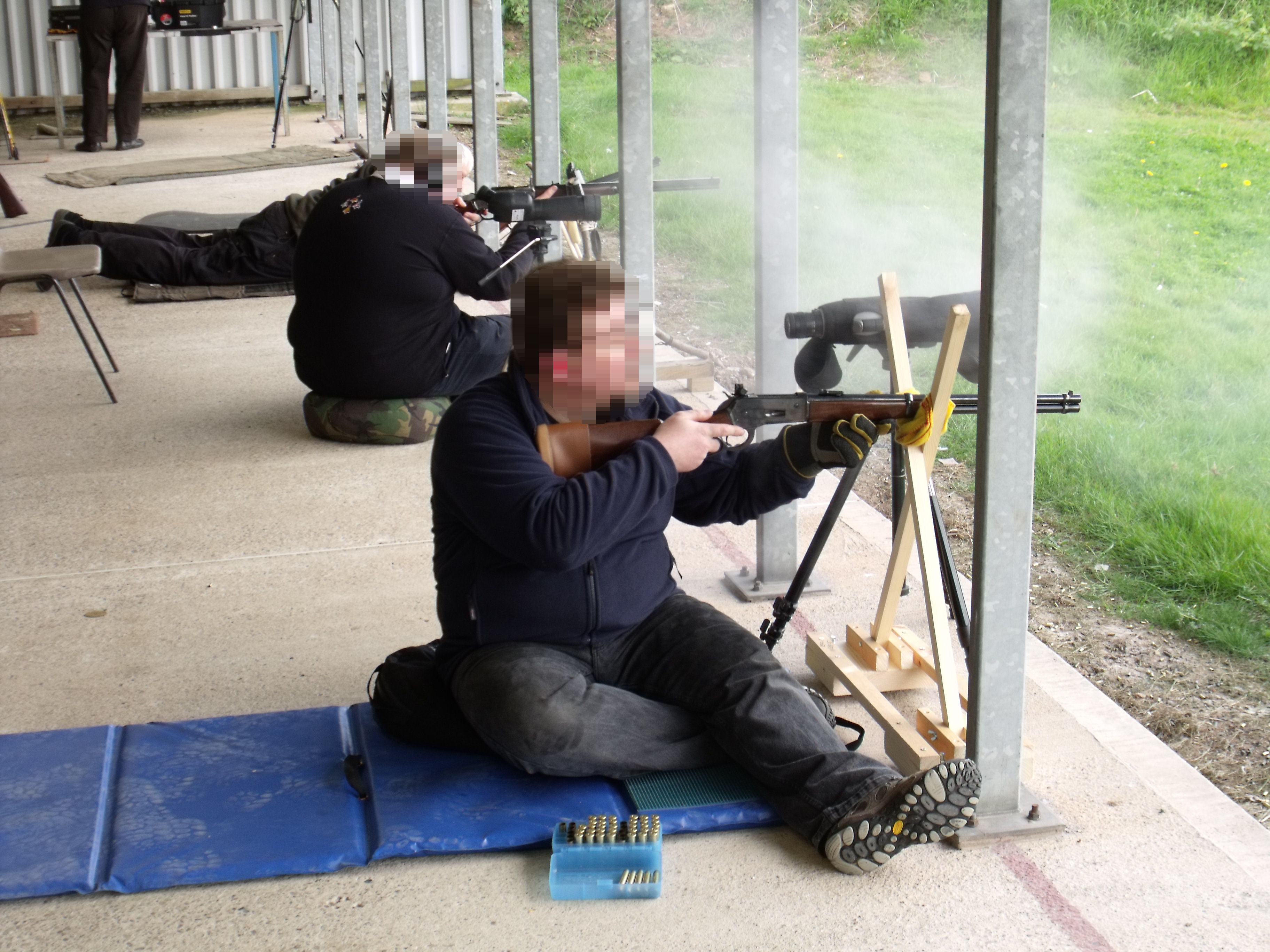 Shooting in the sitting position