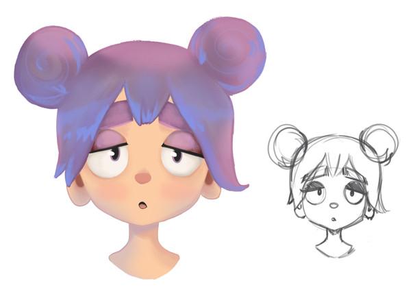 WIP Girl Character Design
