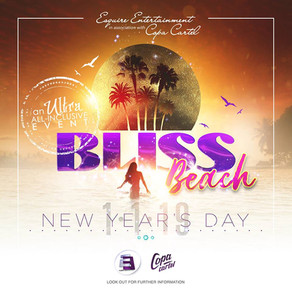 Starting 2019 in total Bliss, on the beach, with ultra-premium food and drinks!